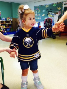 Preschool Services - Tessa in Sabres Shirt